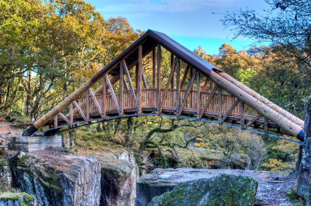Bracklinn Bespoke Steel Timber Bridge